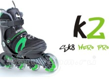 детские роликовые коньки, K2 Sk8 Hero Pro Jr, обзор, описание, комментарии, отзывы