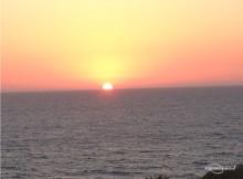 Закат на Средиземном море, роликовые коньки